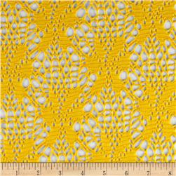 Geometric Crochet Lace Yellow
