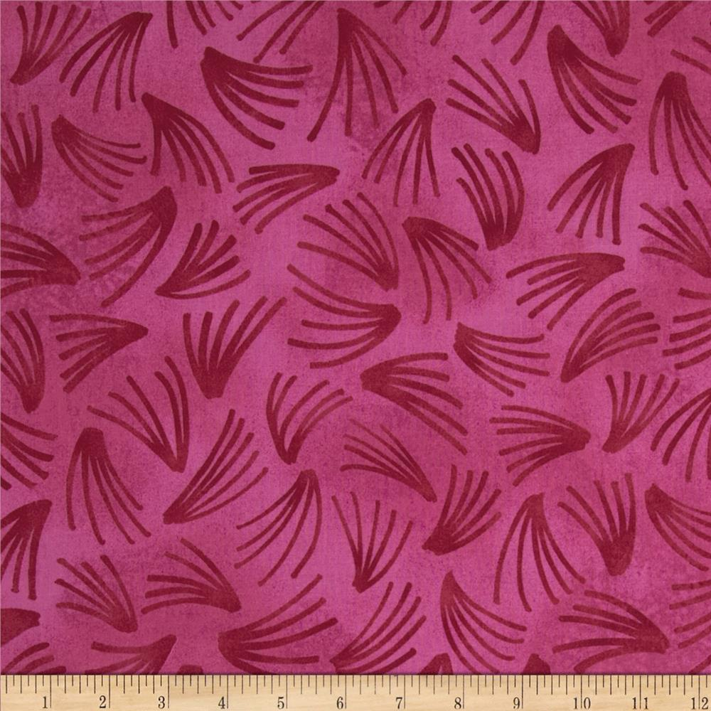 Xanadu Abstract Fans Fuchsia