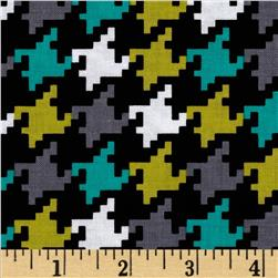 Michael Miller Everyday Houndstooth Mermaid Fabric