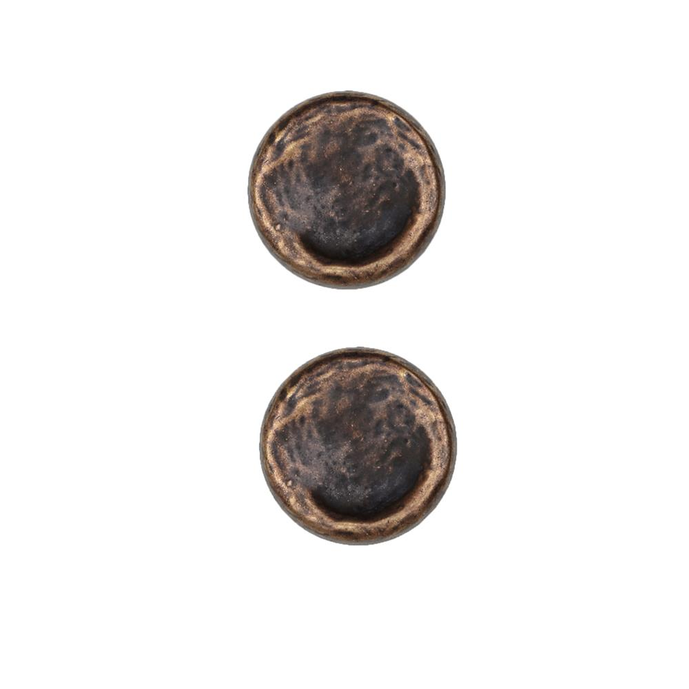 Dill Buttons 1'' Full Metal Button Antique Brass