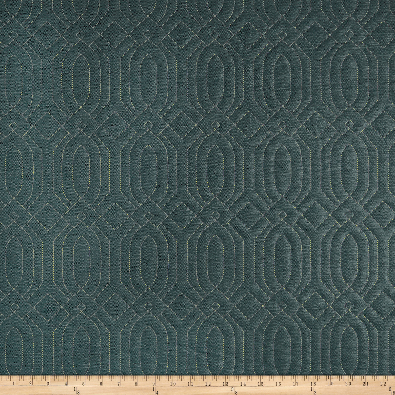 Adf Frescanti Quilted Upholstery Teal Fabric