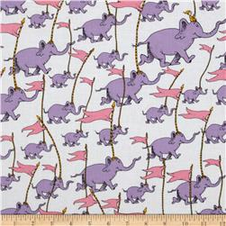 Oh The Places You'll Go! Rainbow Elephants White/Purple