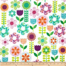 Michael Miller Busy Bee Small World Floral Pink