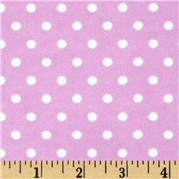 Aunt Polly's Flannel Small Polka Dots Mauve/White