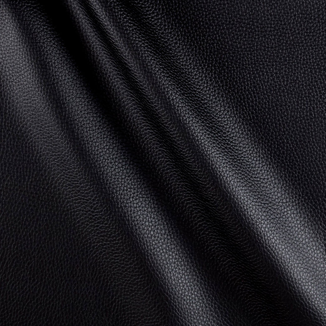 Cabo Faux Leather Black Fabric