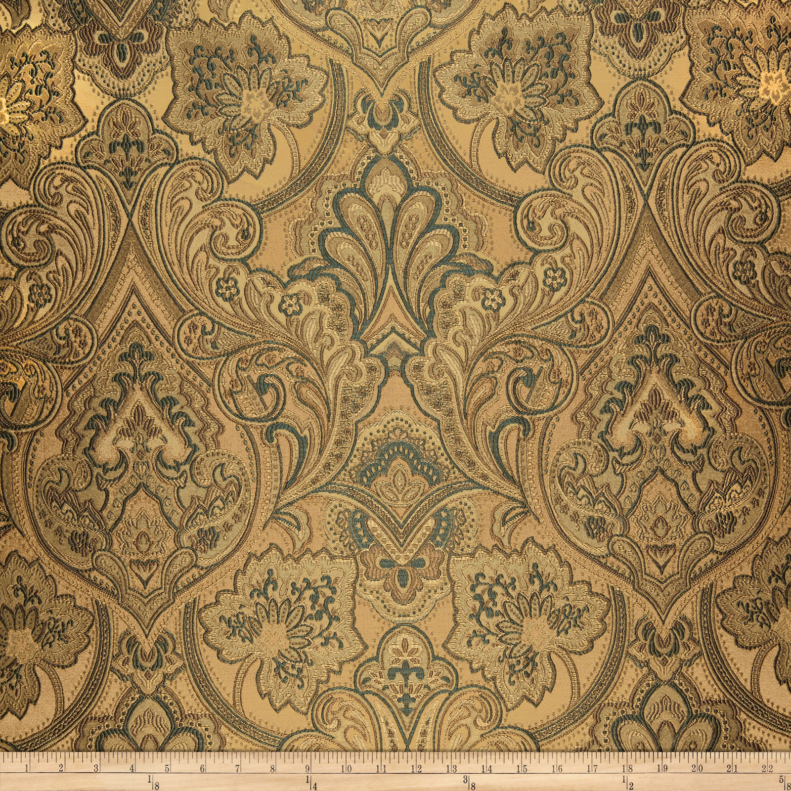 Eroica Hollyhock Jacquard Antique Fabric
