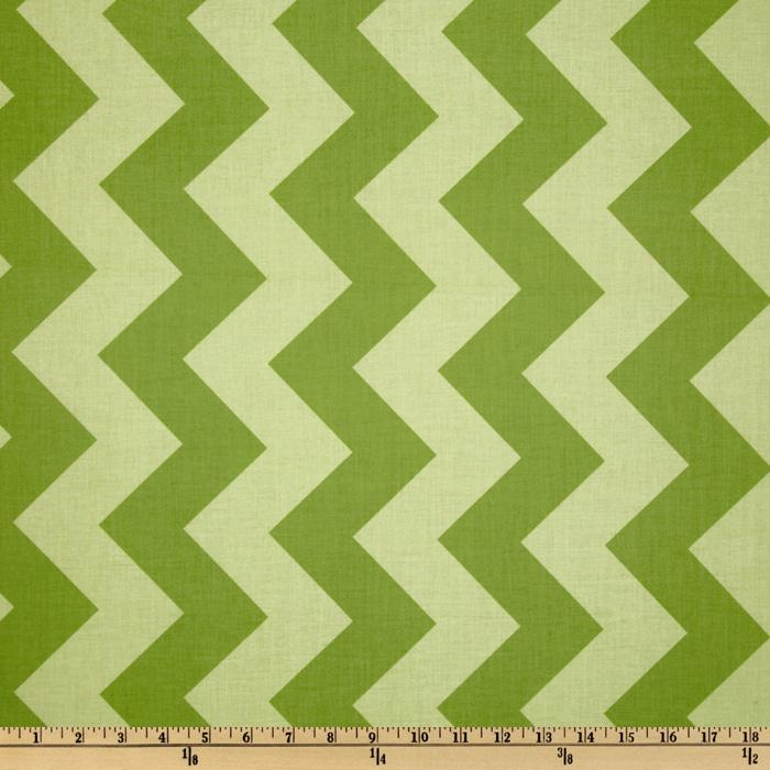 Riley Blake Chevron Large Tonal Green