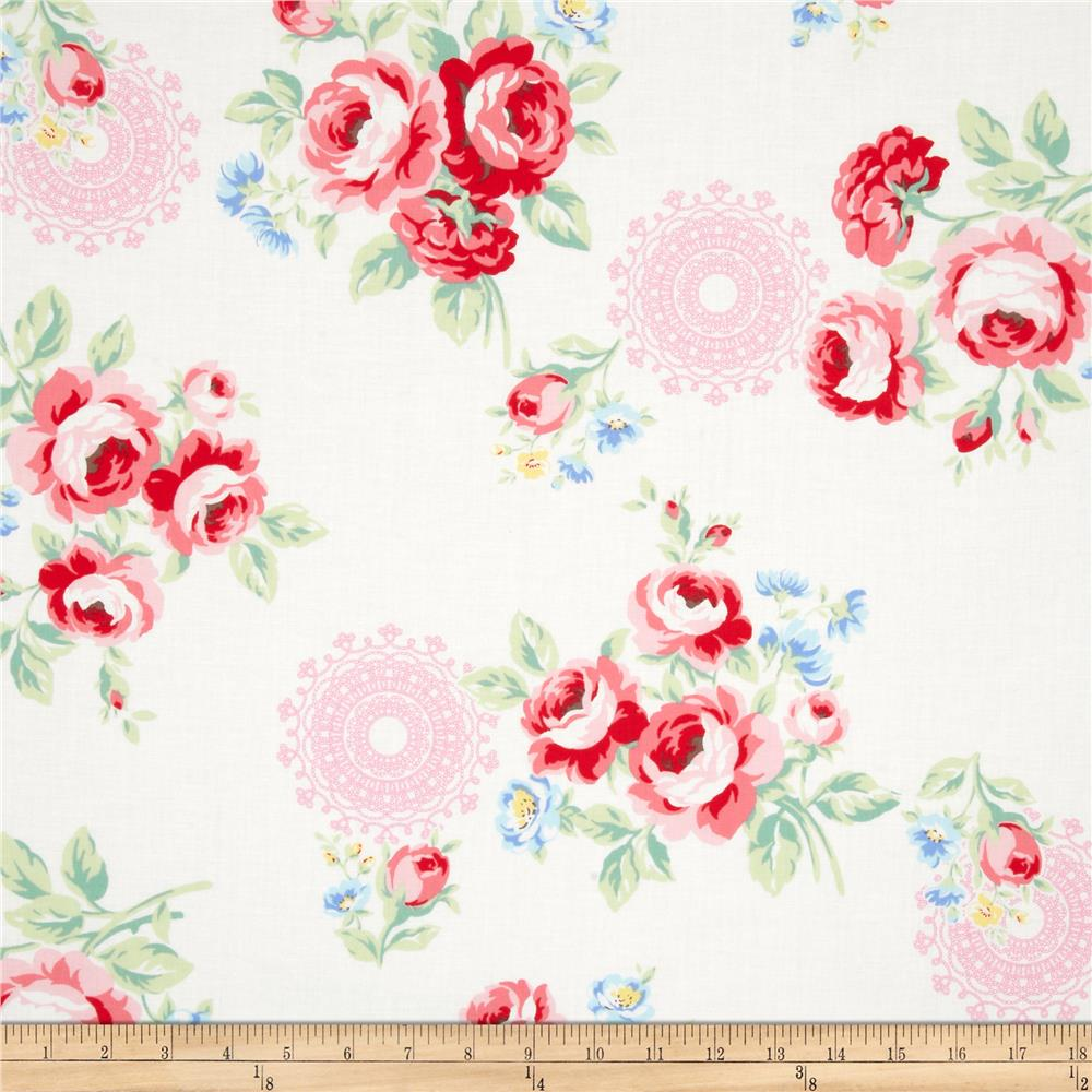 Lecien Flower Sugar Large Floral White