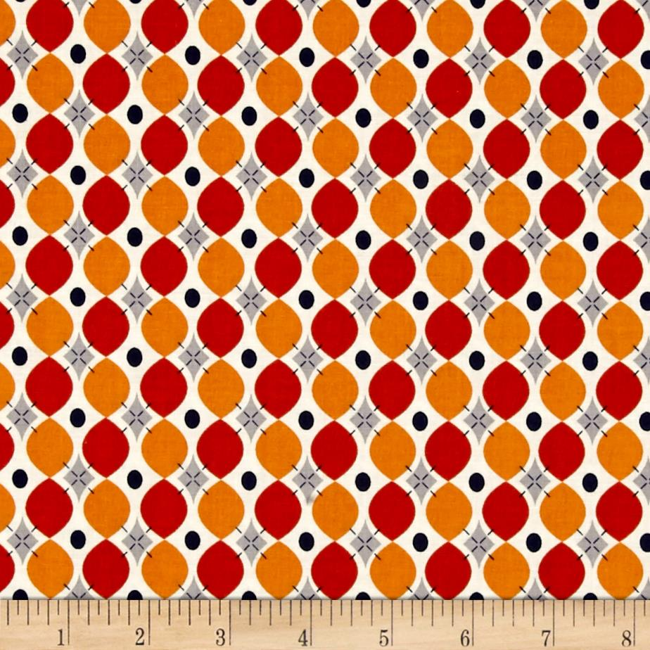 Riley Blake Keep On Groovin' Wallpaper Orange