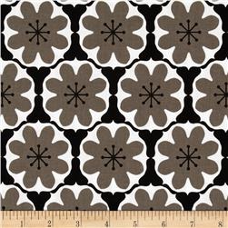 Riley Blake Mod Studio Damask Black Fabric
