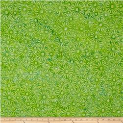 Bali Batiks Handpaints Daisies French Lime