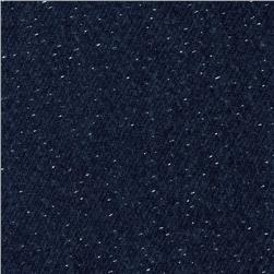 Wool Blend Coating Sparkle Silver/Blue