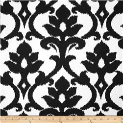 Tempo Damask White/Black Fabric