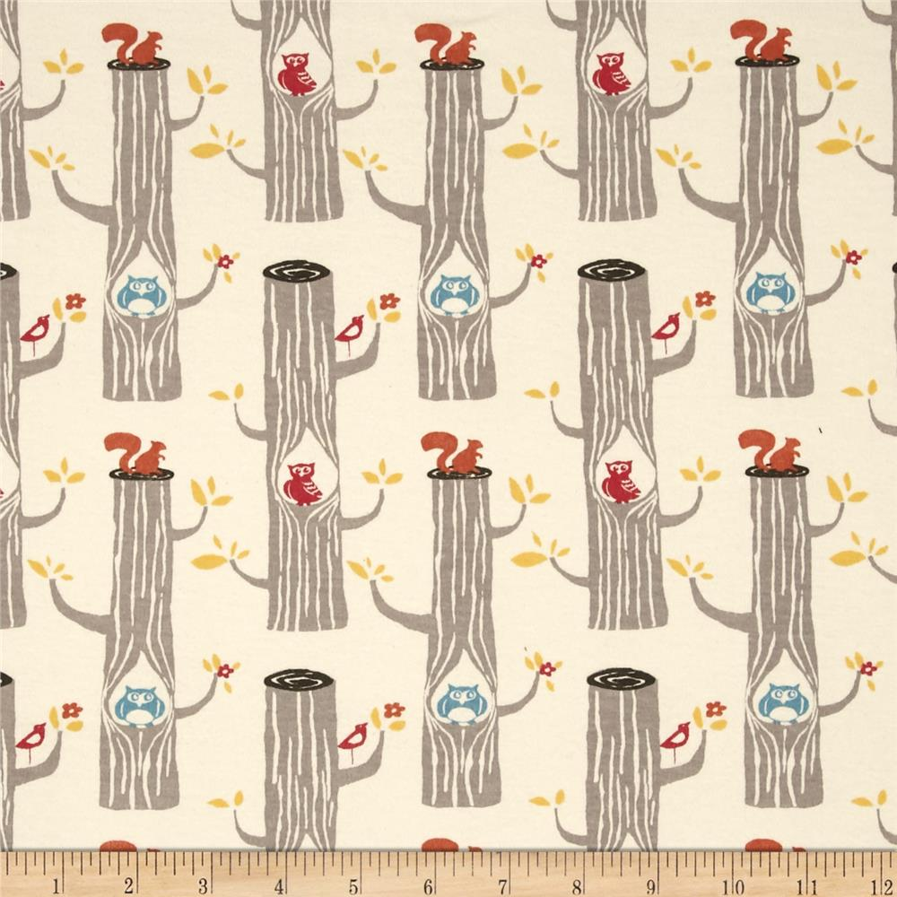Birch Organic Circa 52 Knit Woodland Friends Cream