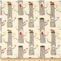 Birch Organic Circa 52 Interlock Knit Woodland Friends Cream