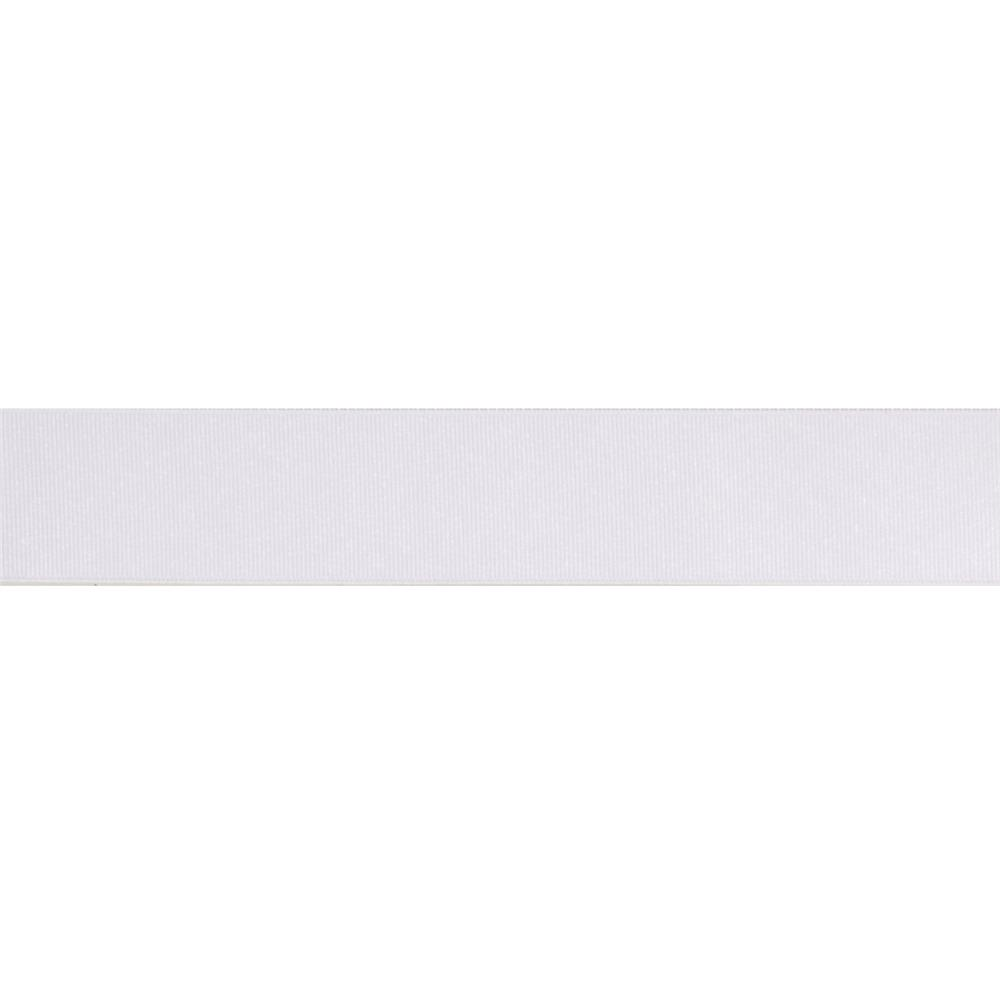 1 1/2'' Grosgrain Solid Ribbon White