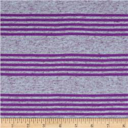 Jersey Knit Stripe Purple