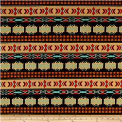 Ethnic Ity Prints Black/Orange