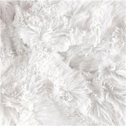 Minky Shaggy Cuddle White Fabric