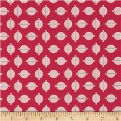 Riley Blake Gracie Girl Dots Pink Fabric