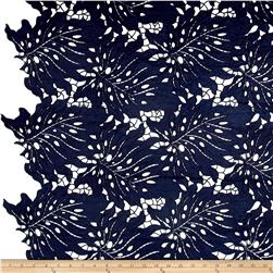 Palms Guipure Lace Navy