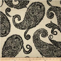 Jennifer Adams Home Henley Paisley Blend Black/Tan Fabric