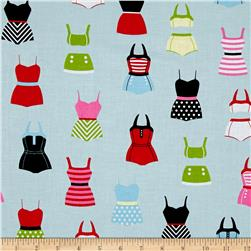 Riley Blake Designer Novelty Swimsuits Blue