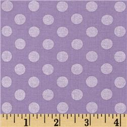 Kaufman Spot On Pearl Metallic Medium Dot Lavender
