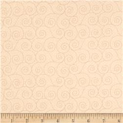 "Basically Wide 108"" Quilt Back Scroll Beige"