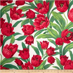 Michael Miller Ruby Tulips White