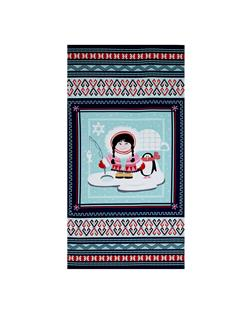"Arctic Girl 23"" Panel Navy"