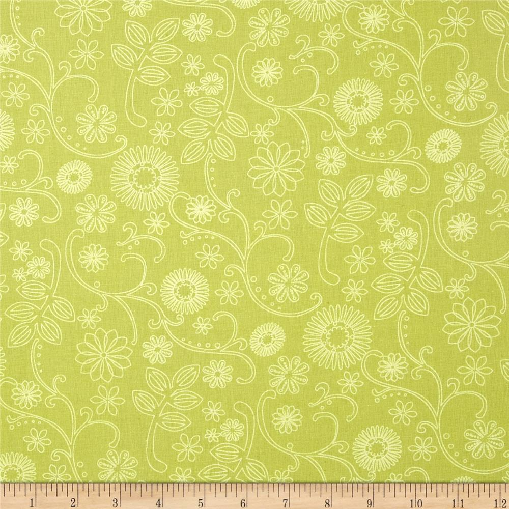 110 In. Wide Quilt Back Signature Green