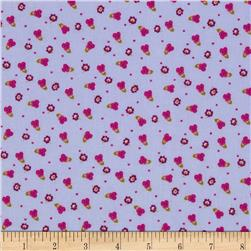 Secret Garden Pansy Pebble Lavender Fabric