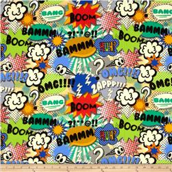 Michael Miller Bam Flannel Boy Fabric