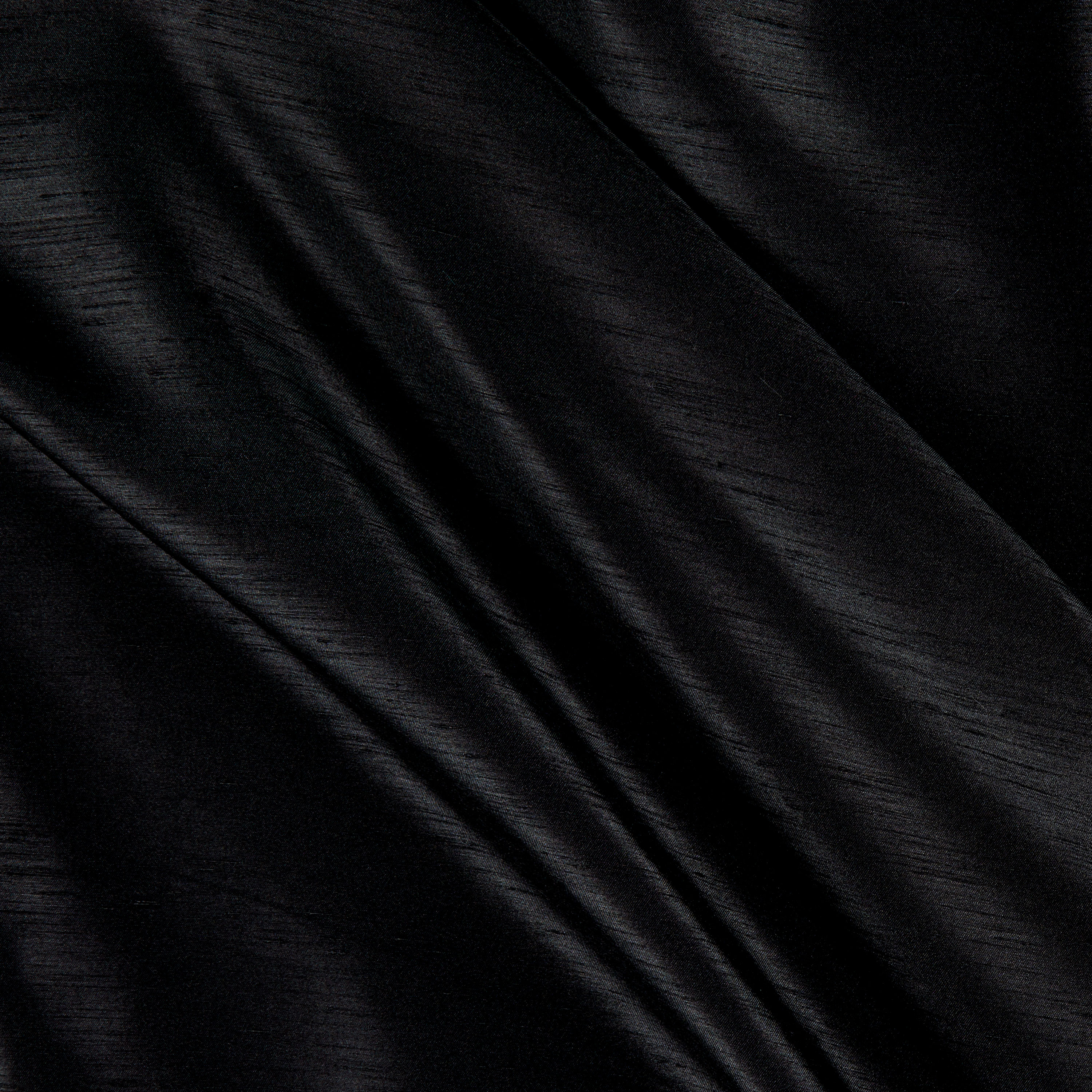 Shantung Sateen Black Fabric