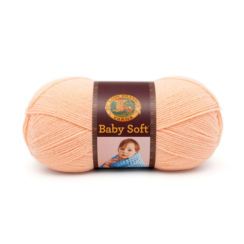 Lion Brand Babysoft Yarn (133) Creamsicle