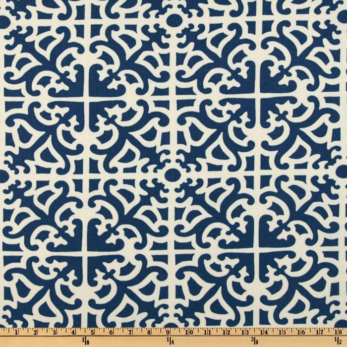 Waverly Sun N Shade Parterre Indigo