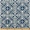 Waverly Sun N Shade Parterre Damask Indigo