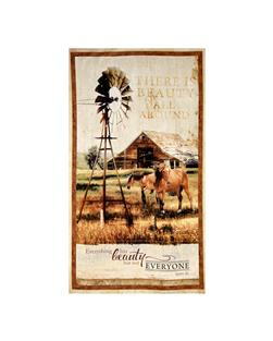 "Greener Pastures Large 25"" Panel Multi"