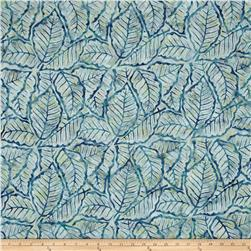 Wilmington Batiks Packed Leaves Blue