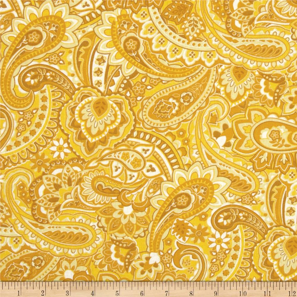 Gadabout Paisley Golden Yellow