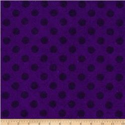 Flannel Polka Dot Deep Purple
