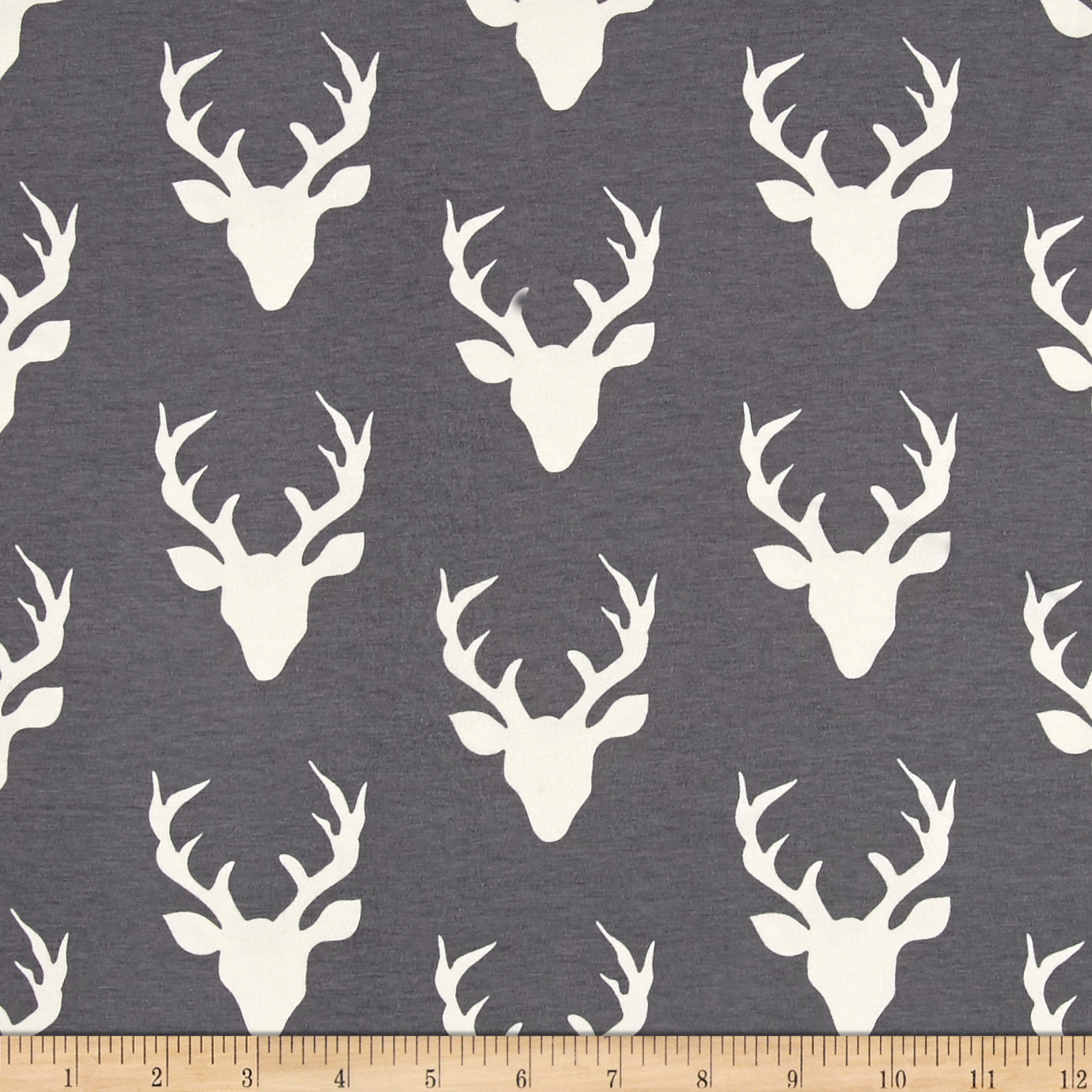 Art Gallery Buck Forest Jersey Knit Moonstone Fabric by Art Gallery in USA