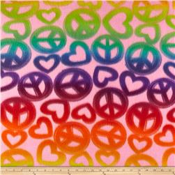 Fleece Print Peace Out Pink