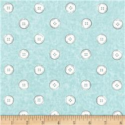 Letter Stitch Buttons Blue