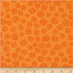 110'' Wide Quilt Back Swirls Orange