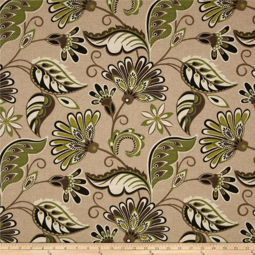 Tempo Indoor/Outdoor Fancy Floral Tan/Green