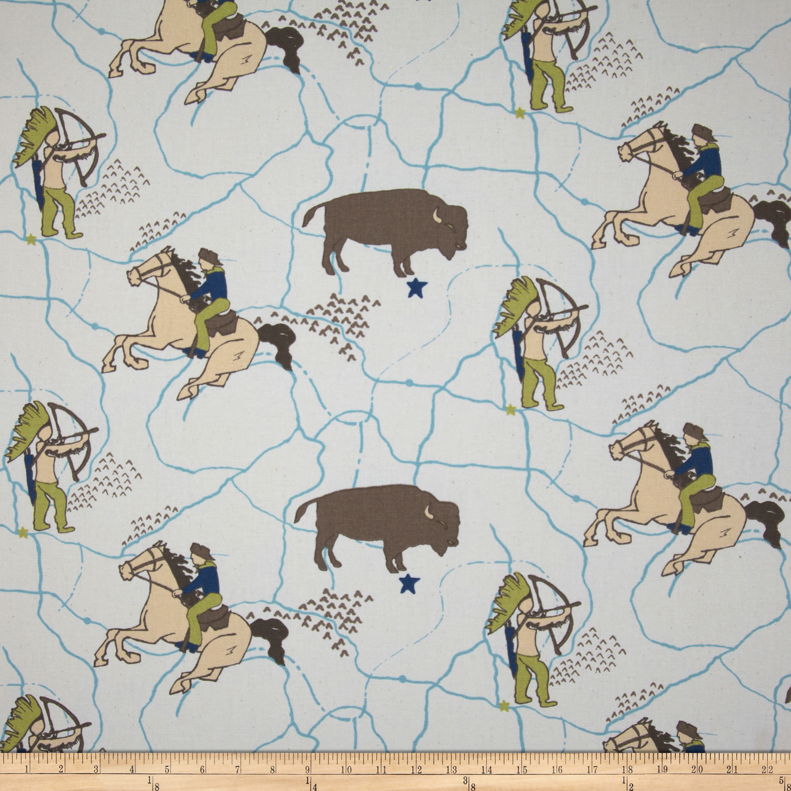 Premier Prints Wild West Felix/Natural Fabric
