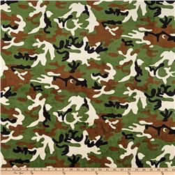 Minky Cuddle Camouflage Green Fabric
