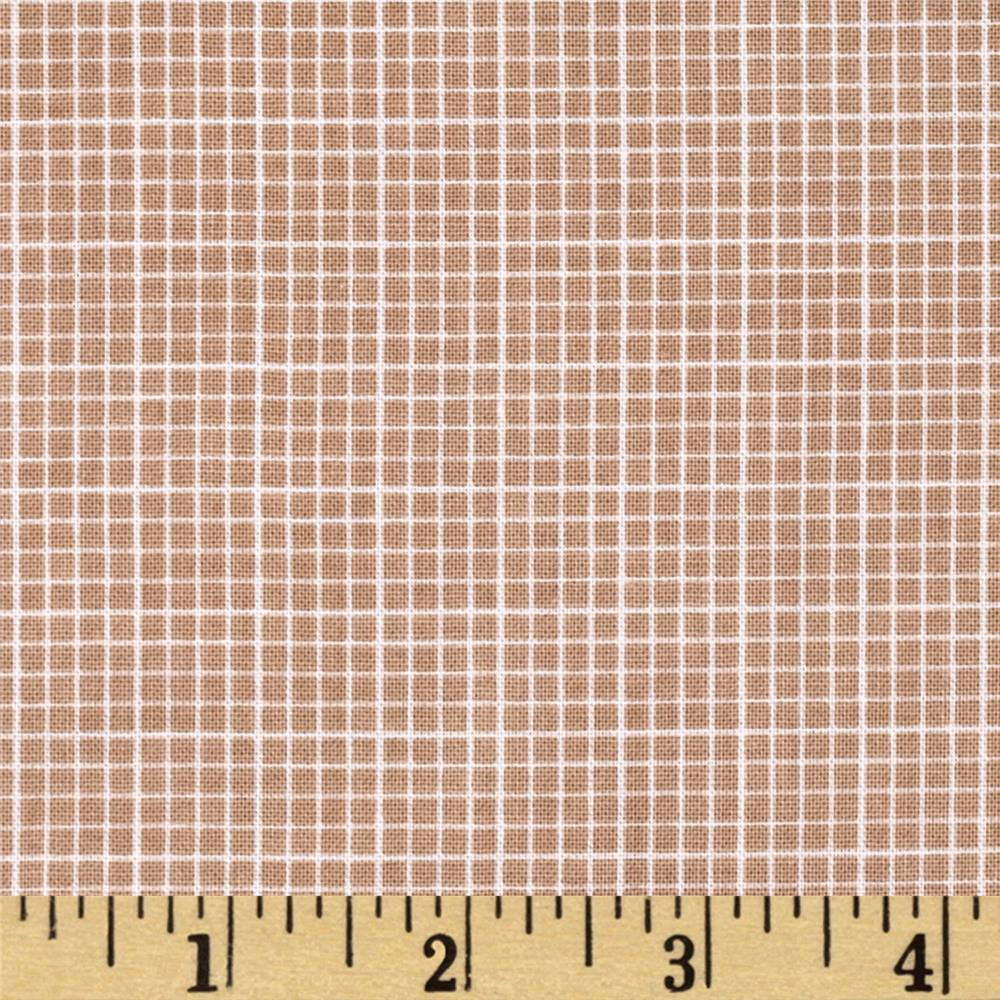 Riley Blake Modern Minis Graph Paper Brown